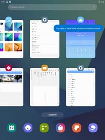 Samsung Galaxy Tab S3 One UI screenshot