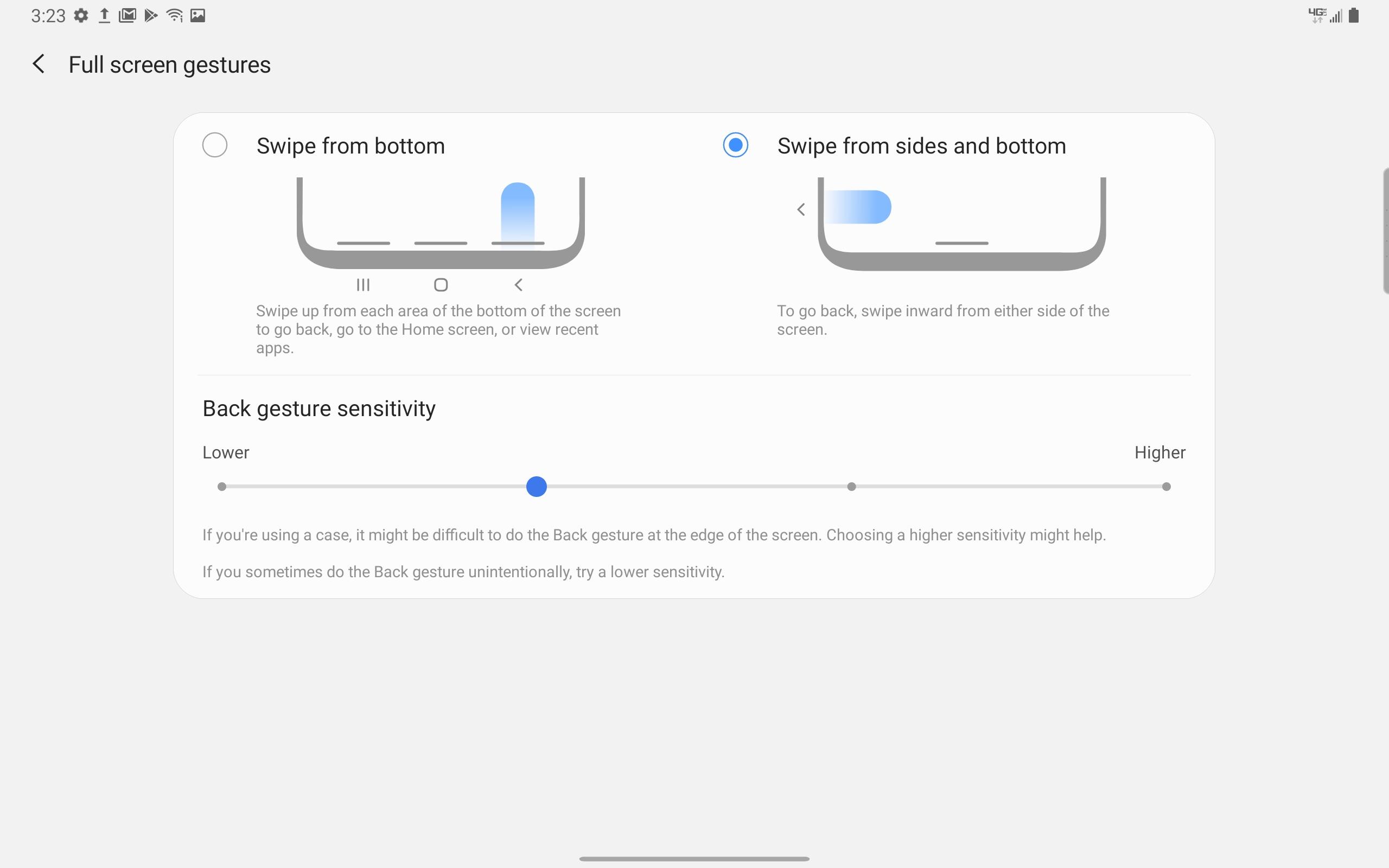 Samsung Galaxy Tab A 10.5-inch Gestures screenshot
