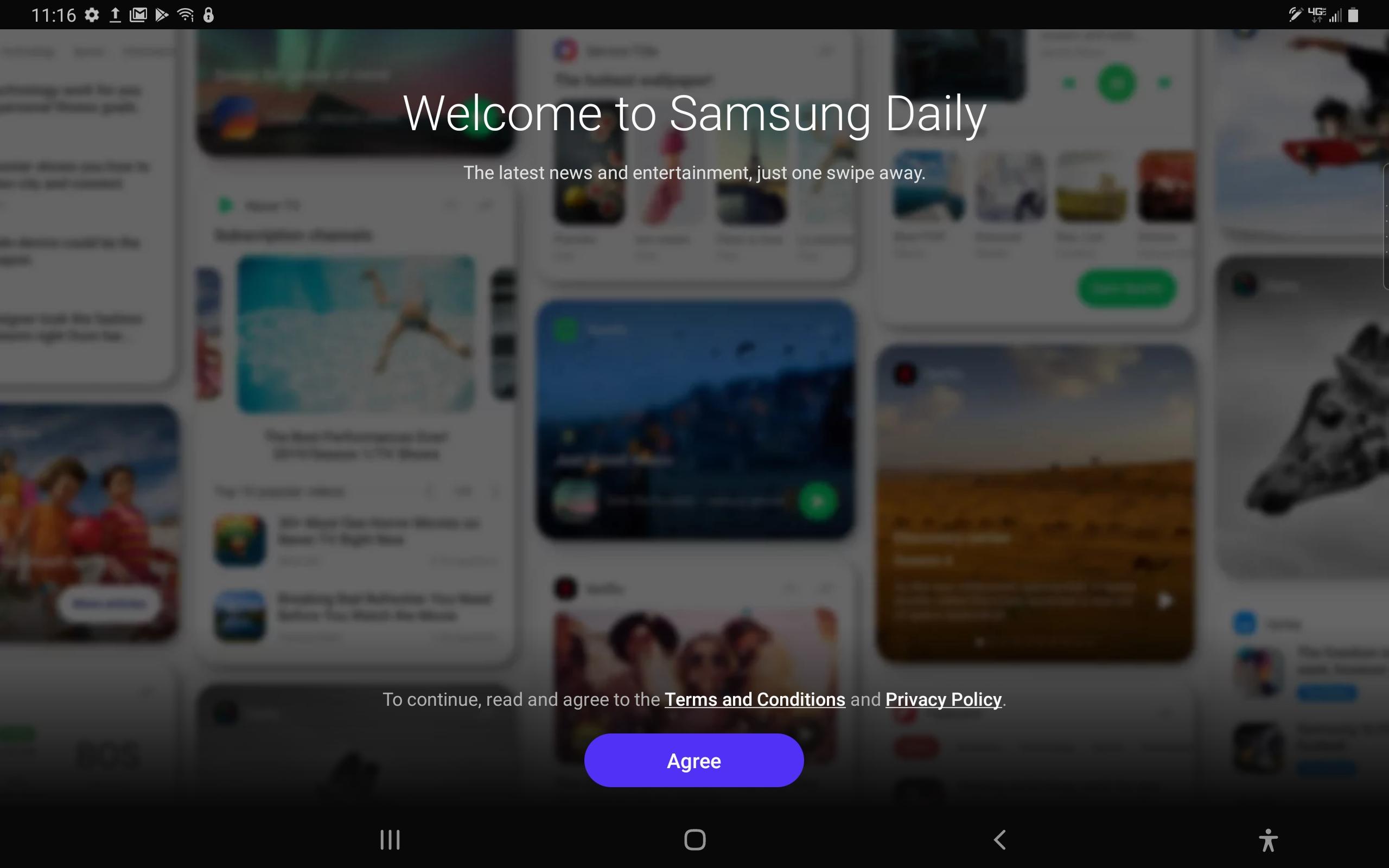 Samsung Galaxy Tab A 8-inch Samsung Daily screenshot