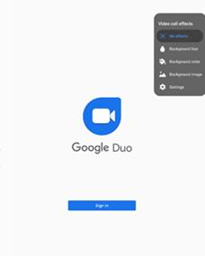 Samsung Galaxy Tab S7 Duo Background Effects screenshot