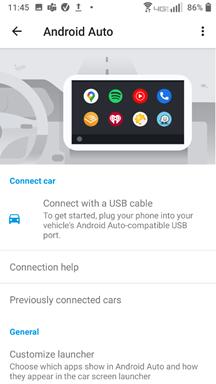 Sonim Android Auto screenshot