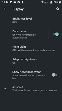 Sonim Dark Mode screenshot