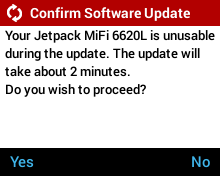 Network Initiated Software Update - Mifi Not Usable During Software Update