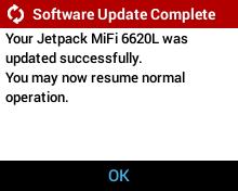 User Initiated Software Update - Software Update Complete