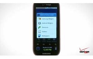 Samsung Continuum™ Home Screen