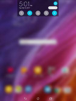 Asus Zenpad Z8 Quick Settings screenshot