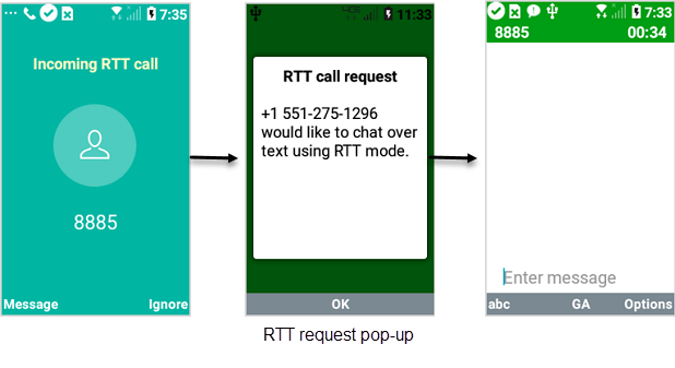 LG Exalt LTE Incoming Calls with RTT Mode Off screenshot