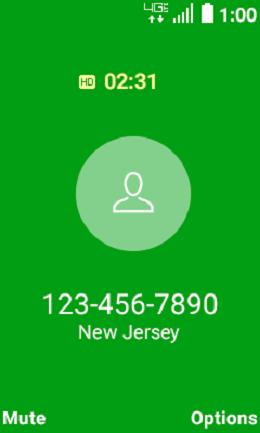 LG Exalt LTE Incoming Call Options screenshot
