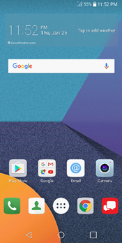 LG G6 Home Screen screenshot