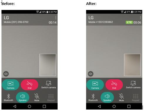 LG Stylo 2 V LTE Video Calling screenshot