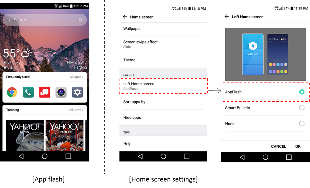 LG V20 Appflash screenshot