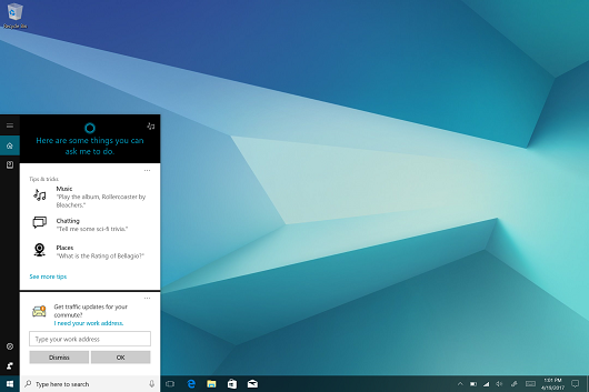 Samsung Galaxy Book Cortana screenshot