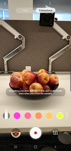 Samsung Galaxy S10 AR Doodle screenshot