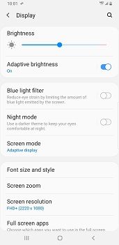 Samsung Galaxy S9 Plus Android Pie screenshot