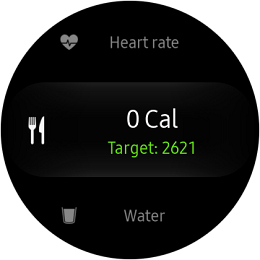 Samsung Gear S2 Classic and Gear S2 Sport Calorie Menu
