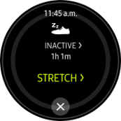 Samsung Gear S2 S Health Inactive Alarm screenshot