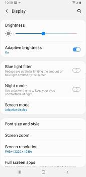 Samsung Galaxy Note8 Android Pie screenshot