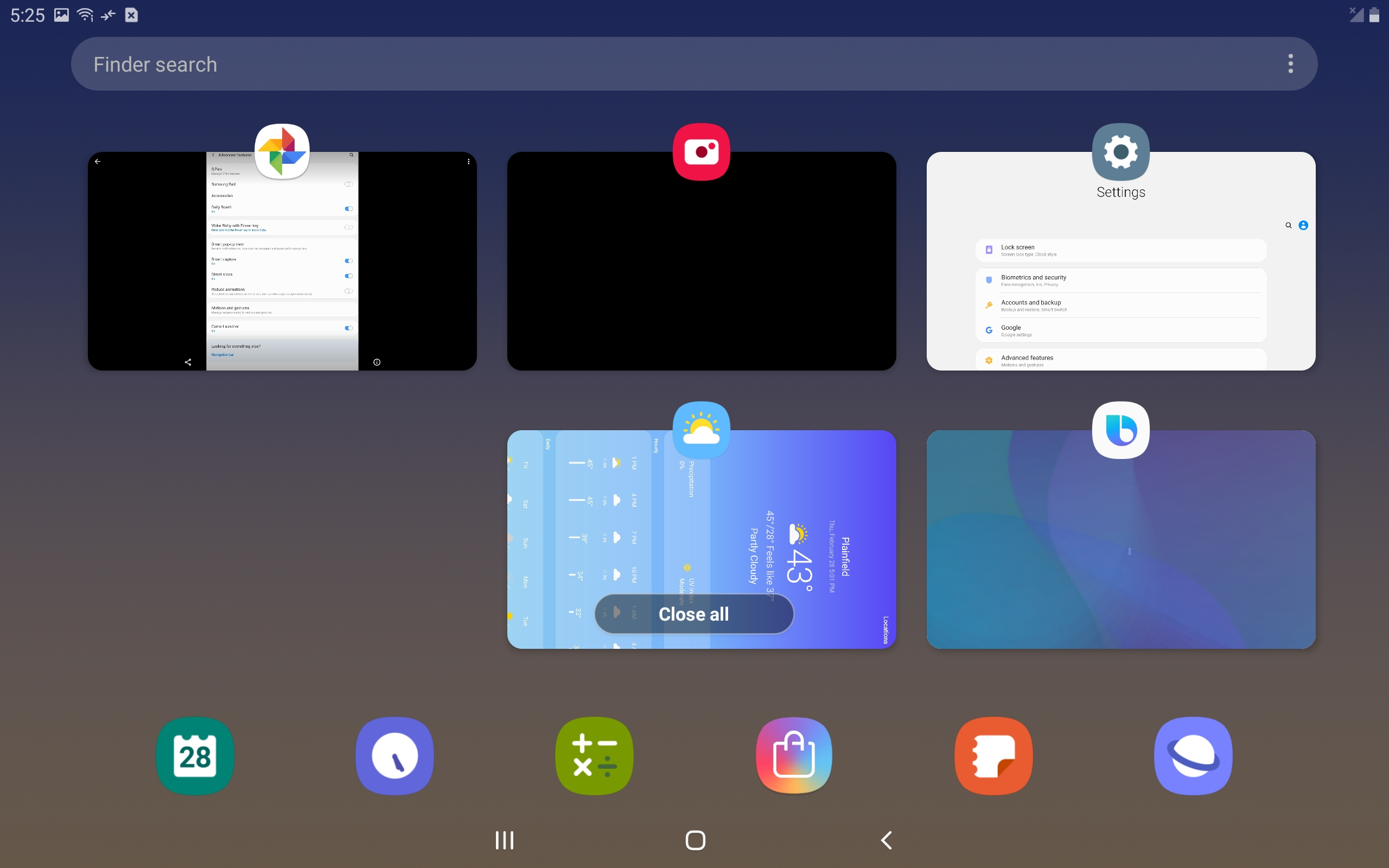 Samsung Galaxy Tab S4 One UI screenshot