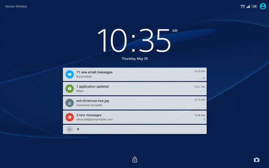 Sony Xperia Z2 Lock Screen