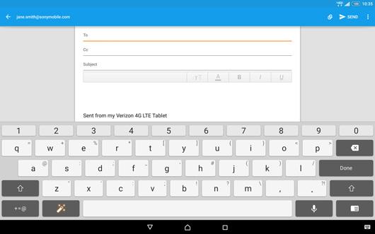 Xperia Z2 Email screenshot