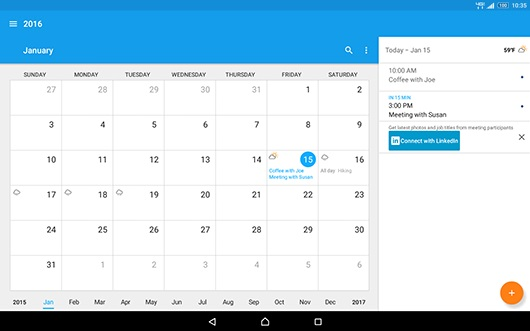 Xperia Z2 Calendar screenshot