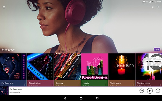 Xperia Z2 Music screenshot