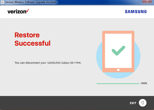 Samsung Software Repair Assistant Restore Successful