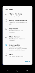Samsung Software Upgrade Assistant System Update screenshot
