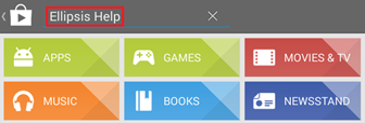 Captura de pantalla de app Ellipsis Help de Verizon Ellipsis 7
