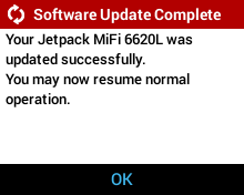 Network Initiated Software Update - Update Successful