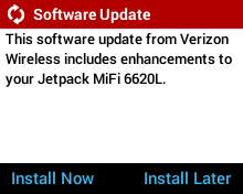 User Initiated Software Update - Install Now or Install Later Option