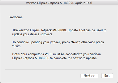 Verizon Ellipsis Jetpack MHS800L Mac Update Tool Instructions, Step 4
