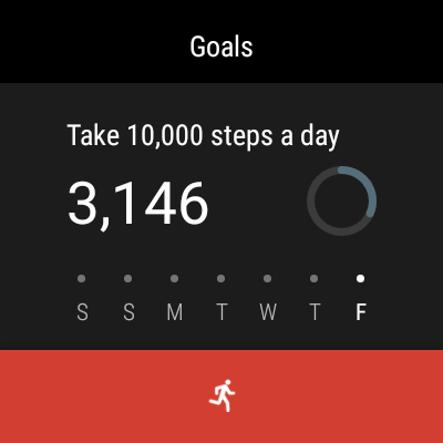 Verizon Wear24 Google Fit screenshot