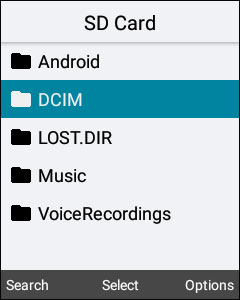 Select DCIM location
