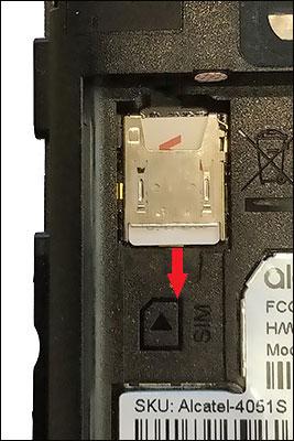 Alcatel GO FLIP V - Remove SIM Card | Verizon Wireless
