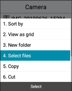 Select files to move