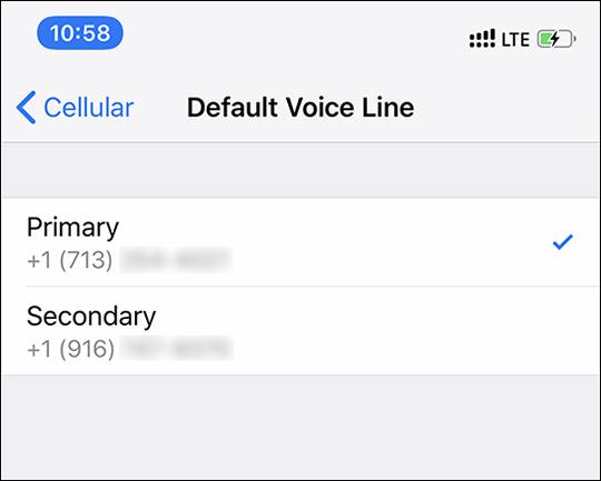 Set Default Voice Line