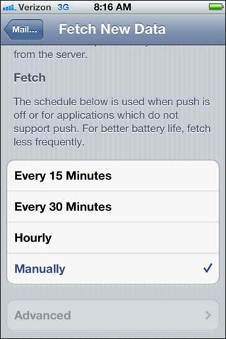 Fetch setting