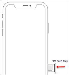 Insertar la bandeja de la tarjeta SIM