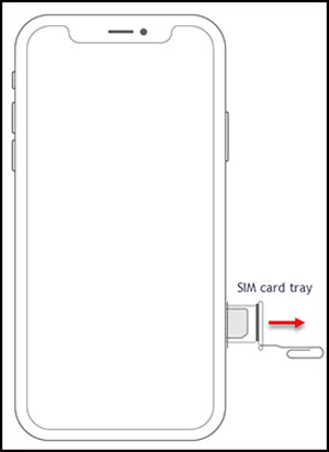 Remove SIM card tray