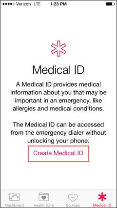 Create Medical ID
