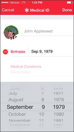 Select Birthdate