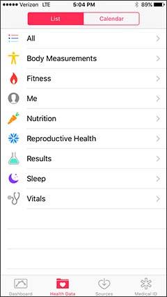 Data de salud