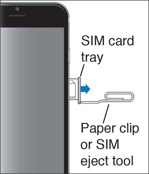 Saca la bandeja de la tarjeta SIM