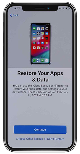 Restore Your Appas and data from previous backup