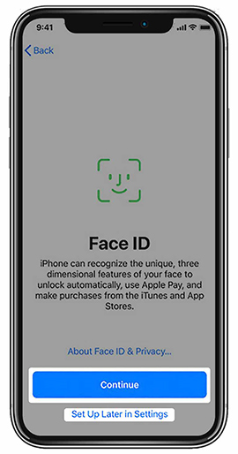 Set up Face ID Or Touch ID
