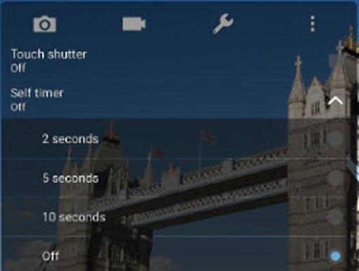 camera timer settings