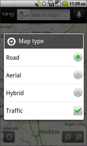 Map type with available options