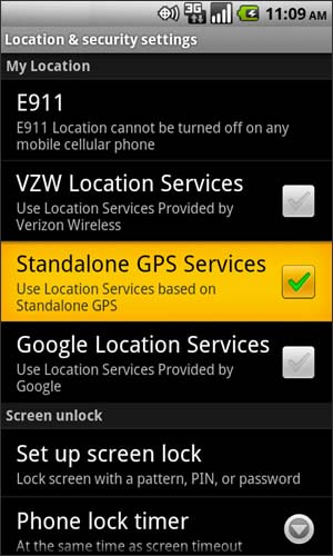 Location & security with Standalone GPS services