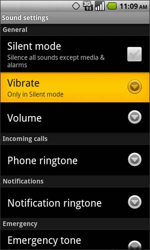 Sound with Vibrate